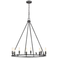 Generation Lighting EC1048AI ED Ellen DeGeneres Caroline 8 Light 30 inch Aged Iron Chandelier Ceiling Light