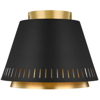 Generation Lighting EF1011MBK ED Ellen DeGeneres Carter 1 Light 11 inch Midnight Black Flush Mount Ceiling Light