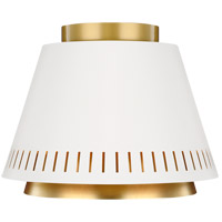 Generation Lighting EF1011MWT ED Ellen DeGeneres Carter 1 Light 11 inch Matte White Flush Mount Ceiling Light