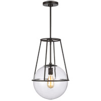 Generation Lighting EP1101AI ED Ellen DeGeneres Atlas 1 Light 13 inch Aged Iron Pendant Ceiling Light