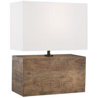 Generation Lighting ET1081WDO1 ED Ellen DeGeneres Redmond 20 inch 9.5 watt Weathered Oak Wood Table Lamp Portable Light