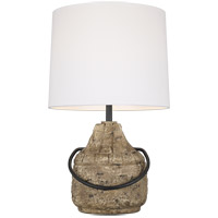 ED Ellen DeGeneres ET1141STN1 Augie 27 inch 9.5 watt Stone Table Lamp Portable Light