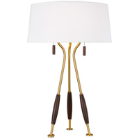 Generation Lighting ET1222WWBBS1 ED Ellen DeGeneres Arbur 27 inch 9.5 watt Burnished Brass Table Lamp Portable Light