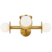 Generation Lighting KF1034BBS Kelly by Kelly Wearstler Nodes 4 Light 18 inch Burnished Brass Flush Mount Ceiling Light