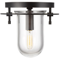 Generation Lighting KF1041AI Kelly by Kelly Wearstler Nuance 1 Light 8 inch Aged Iron Flush Mount Ceiling Light