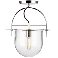 Generation Lighting KF1071PN Kelly by Kelly Wearstler Nuance 1 Light 15 inch Polished Nickel Semi-Flush Mount Ceiling Light