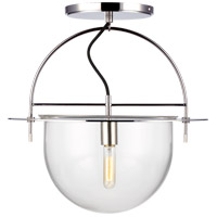 Generation Lighting KF1081PN Kelly by Kelly Wearstler Nuance 1 Light 18 inch Polished Nickel Semi-Flush Mount Ceiling Light
