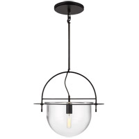 Generation Lighting KP1031AI Kelly by Kelly Wearstler Nuance 1 Light 18 inch Aged Iron Pendant Ceiling Light