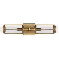 Generation Lighting LV1002TWB Lauren Ralph Lauren Flynn 2 Light Time Worn Brass Linear Sconce Wall Light