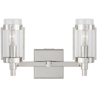 Generation Lighting LV1012PN Lauren Ralph Lauren Flynn 2 Light 13 inch Polished Nickel Vanity Light Wall Light