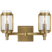Generation Lighting LV1012TWB Lauren Ralph Lauren Flynn 2 Light 13 inch Time Worn Brass Vanity Light Wall Light