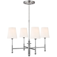 Generation Lighting TC1004PN TOB by Thomas OBrien Capri 4 Light 26 inch Polished Nickel Chandelier Ceiling Light