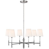 Generation Lighting TC1016PN TOB by Thomas O'Brien Capri 6 Light 34 inch Polished Nickel Chandelier Ceiling Light