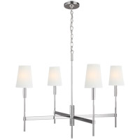 Generation Lighting TC1044PN TOB by Thomas OBrien Beckham Classic 4 Light 36 inch Polished Nickel Chandelier Ceiling Light