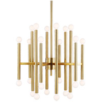 Generation Lighting TC10524BBS TOB by Thomas OBrien Beckham Modern 24 Light 23 inch Burnished Brass Chandelier Ceiling Light