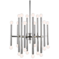 Generation Lighting TC10524PN TOB by Thomas OBrien Beckham Modern 24 Light 23 inch Polished Nickel Chandelier Ceiling Light