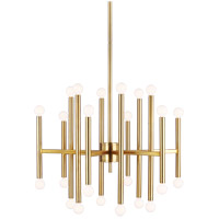 Generation Lighting TC10624BBS TOB by Thomas OBrien Beckham Modern 24 Light 29 inch Burnished Brass Chandelier Ceiling Light