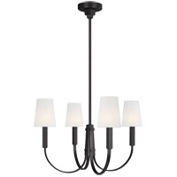 Generation Lighting TC1084AI TOB by Thomas OBrien Logan 4 Light 26 inch Aged Iron Chandelier Ceiling Light