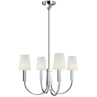 Generation Lighting TC1084PN TOB by Thomas OBrien Logan 4 Light 26 inch Polished Nickel Chandelier Ceiling Light