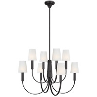 Generation Lighting TC1088AI TOB by Thomas O'Brien Logan 8 Light 37 inch Aged Iron Chandelier Ceiling Light