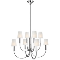 Generation Lighting TC1088PN TOB by Thomas O'Brien Logan 8 Light 37 inch Polished Nickel Chandelier Ceiling Light