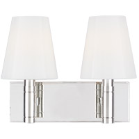 Generation Lighting TV1022PN TOB by Thomas OBrien Beckham Classic 2 Light 13 inch Polished Nickel Vanity Light Wall Light