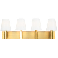 Generation Lighting TV1044BBS TOB by Thomas OBrien Beckham Classic 4 Light 29 inch Burnished Brass Vanity Light Wall Light