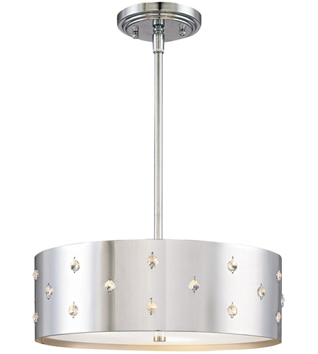George Kovacs P033 077 Bling 3 Light 14 Inch Chrome Pendant Ceiling Photo