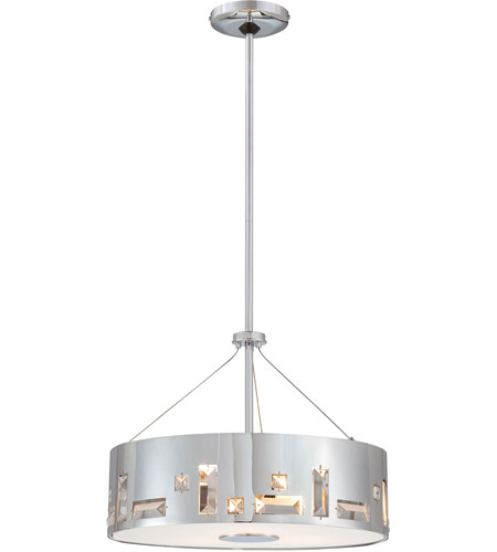 George Kovacs P1092 077 Bling Bang 4 Light 16 Inch Chrome Pendant Ceiling Photo