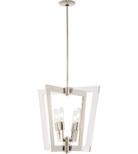 George Kovacs P1370 613 Crystal Chrome 4 Light 20 Inch Polished Nickel Pendant Ceiling