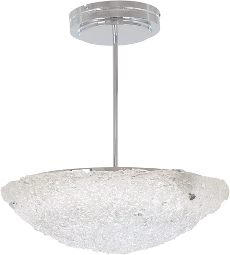 George Kovacs P1388-077-L Forest Ice LED 20 inch Chrome Pendant Ceiling Light, Convertible to Semi-Flush photo thumbnail
