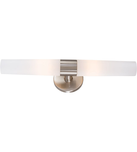 George Kovacs P Saber Light Inch Brushed Nickel Bath - Satin nickel bathroom sconces