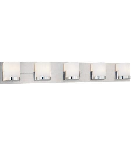 George Kovacs P5955 077 Convex 5 Light 41 Inch Chrome Bath Bar Wall