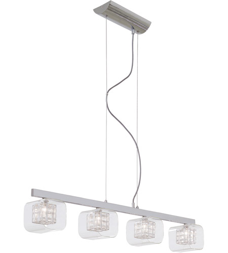 George Kovacs P804 077 Jewel Box 4 Light 39 Inch Chrome Island Ceiling