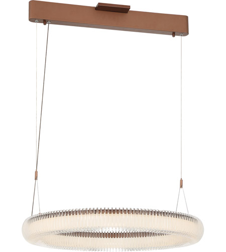 George Kovacs P8172-670-L Roulette LED 26 inch Satin Bronze Pendant Ceiling Light photo thumbnail