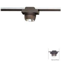 George Kovacs GKTH2001-467 GK Lightrail 1 Light 12V Sable Bronze Patina Rail Spot Head Ceiling Light with Optional Diffuser