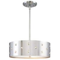 George Kovacs P033-077 Bling Bling 3 Light 14 inch Chrome Pendant Ceiling Light