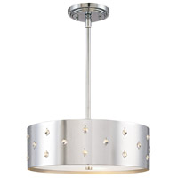 Bling Bling 3 Light 14 inch Chrome Pendant Ceiling Light