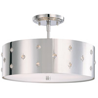George Kovacs P035-077 Bling Bling 3 Light 14 inch Chrome Semi-Flush Mount Ceiling Light