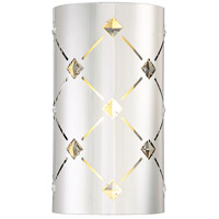 Crowned LED 7 inch Chrome ADA Wall Sconce Wall Light