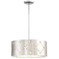 Crowned LED 16 inch Chrome Pendant Ceiling Light, Convertible To Semi Flush