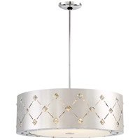 Crowned LED 22 inch Chrome Pendant Ceiling Light