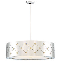 Crowned LED 28 inch Chrome Pendant Ceiling Light