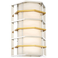 George Kovacs P1070-657-L Levels 1 Light 9 inch Polished Nickel with Honey Gold Wall Sconce Wall Light