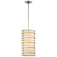 George Kovacs P1071-657-L Levels 1 Light 10 inch Polished Nickel with Honey Gold Mini Pendant Ceiling Light