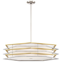 George Kovacs P1073-657-L Levels LED 32 inch Polished Nickel with Honey Gold Pendant Ceiling Light