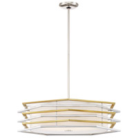 George Kovacs P1074-657-L Levels LED 26 inch Polished Nickel/Honey Gold Pendant Ceiling Light