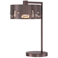 Bling Bang 20 inch 100 watt Chocolate Chrome Table Lamp Portable Light