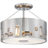 George Kovacs P1091-077 Bling Bang 3 Light 12 inch Chrome Semi Flush Mount Ceiling Light