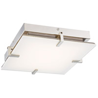 George Kovacs P1111-613-L Hooked LED 14 inch Polished Nickel Flush Mount Ceiling Light